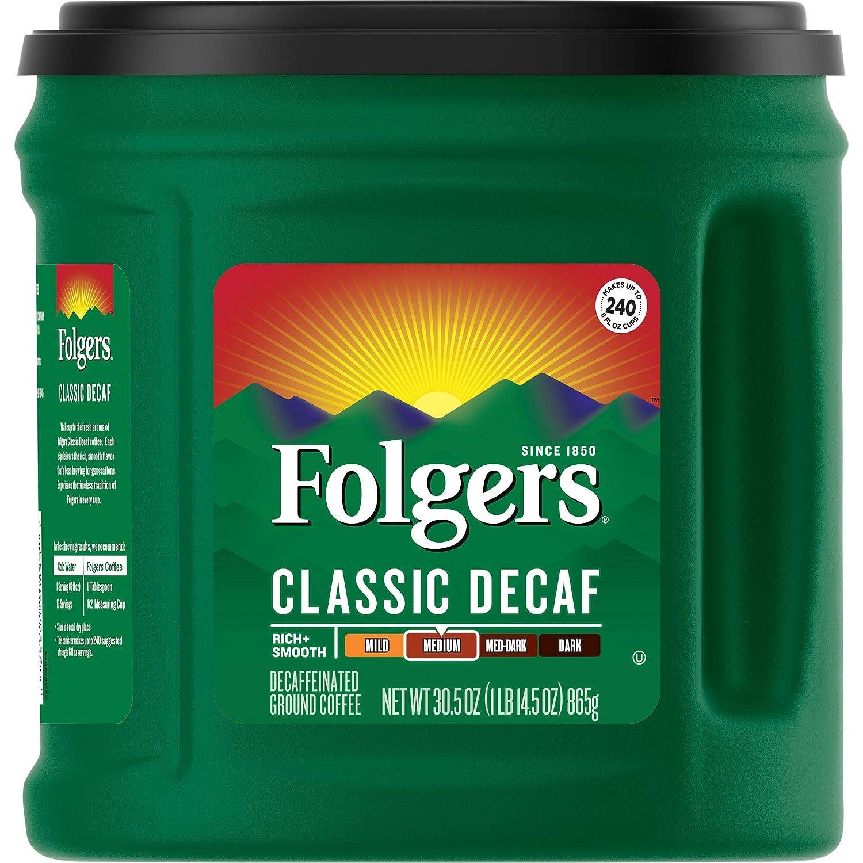 قهوة منزوعة الكافيين Folgers Classic Decaf