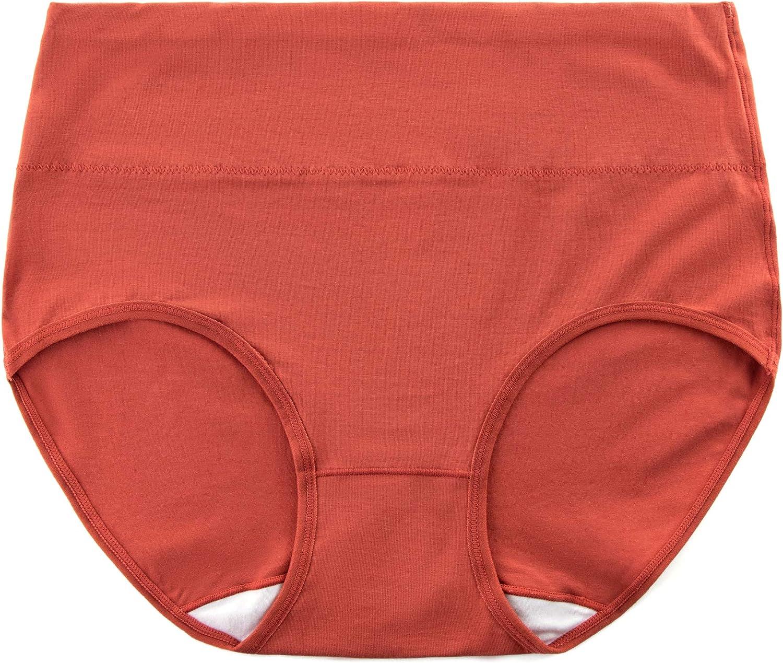 Alruy Womens High Waist Brief Panties Soft Cotton Underwear for Women