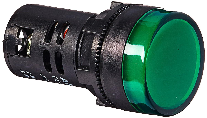 Red LED Flush Panel Mount 7//8 22mm uxcell 8Pcs AC//DC 110V Indicator Lights