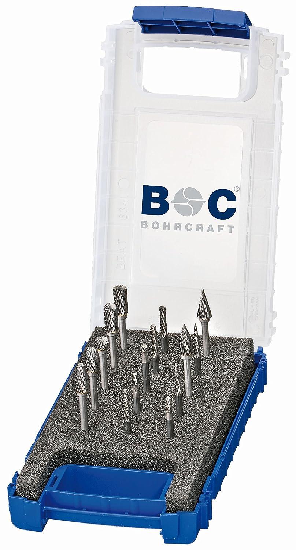 Juego de fresas de metal duro 15 piezas, di/ámetro de 3,0 y 6,0 mm Bohrcraft 59001330015 KF15
