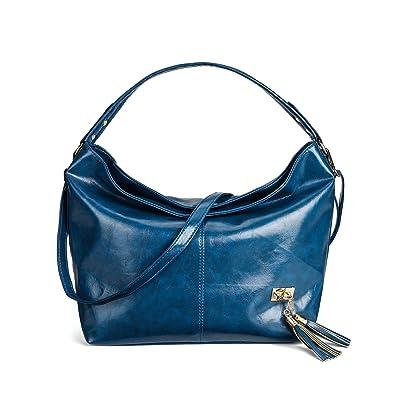 KAMIERFA Handbags for Women Hobo Bags Designer Collection Large Capacity Shoulder  Bag (Navy Blue) e74d0af672dfe