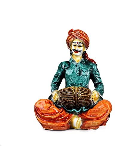 Buy Kavya Home Decor Marble Base Polyresin Rajasthani Showpiece