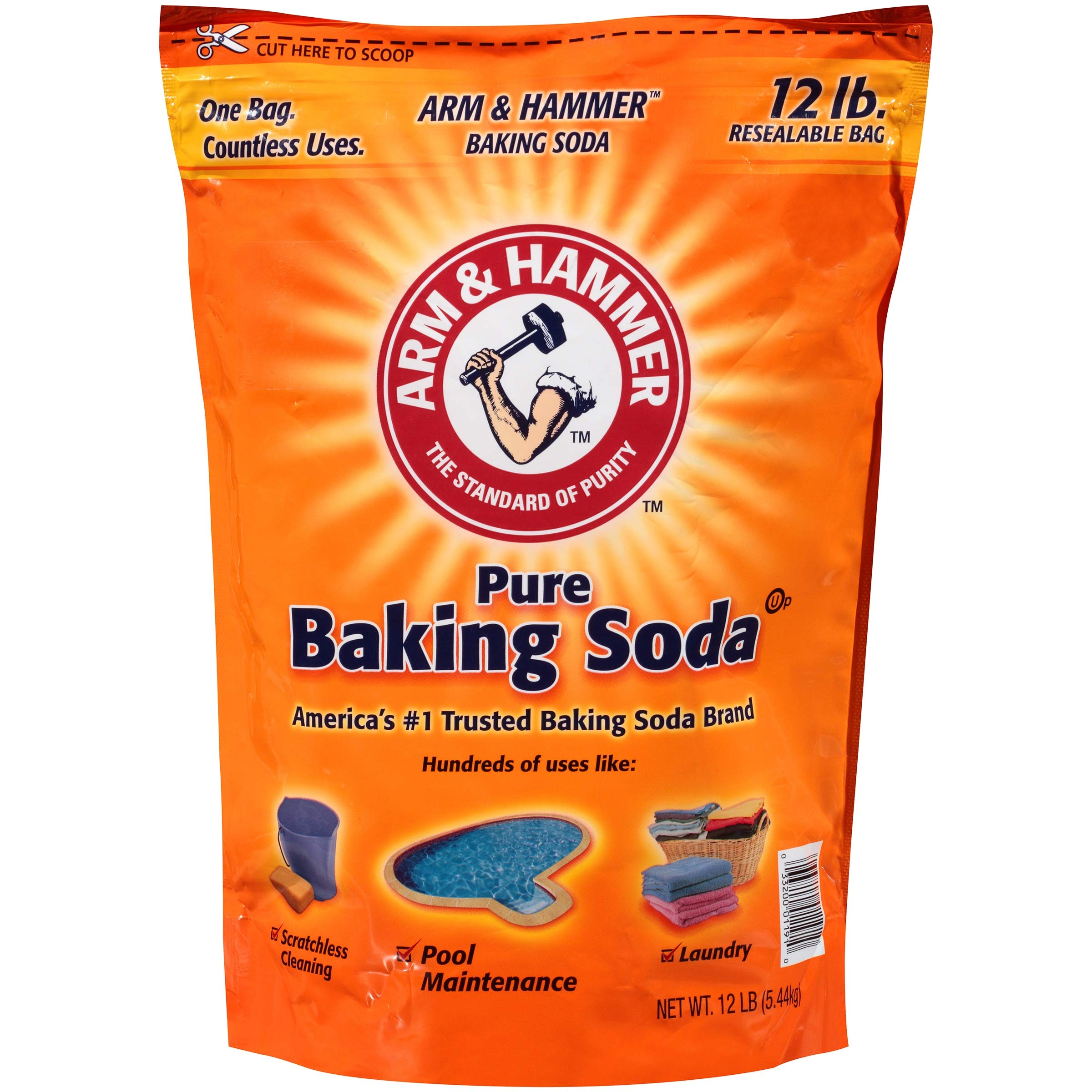 Arm & Hammer Pure Baking Soda, 12 pound - 4 pack by Arm & Hammer (Image #2)