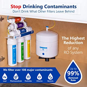 2f0e0b2ae43 Express Water Alkaline Reverse Osmosis Water Filtration System - 10 Stage RO  Mineralizing Purifier - Mineral