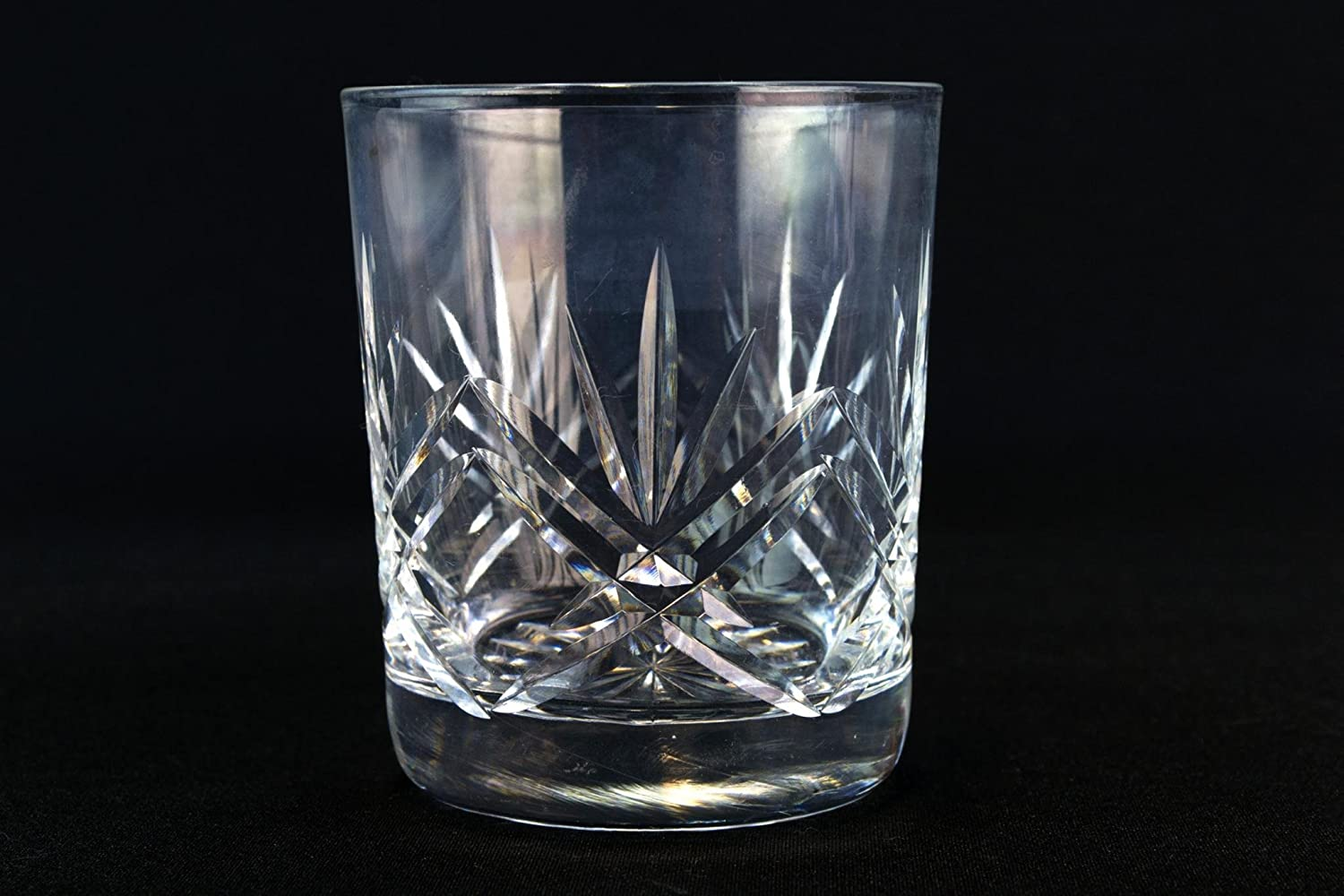 7.5 cm VintageTro Lead Crystal Cut Glass Smaller Size Whisky Tumblers