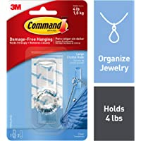 Command Crystal Hook, Clear, Large, 1-Hook (17096CLR-ES)
