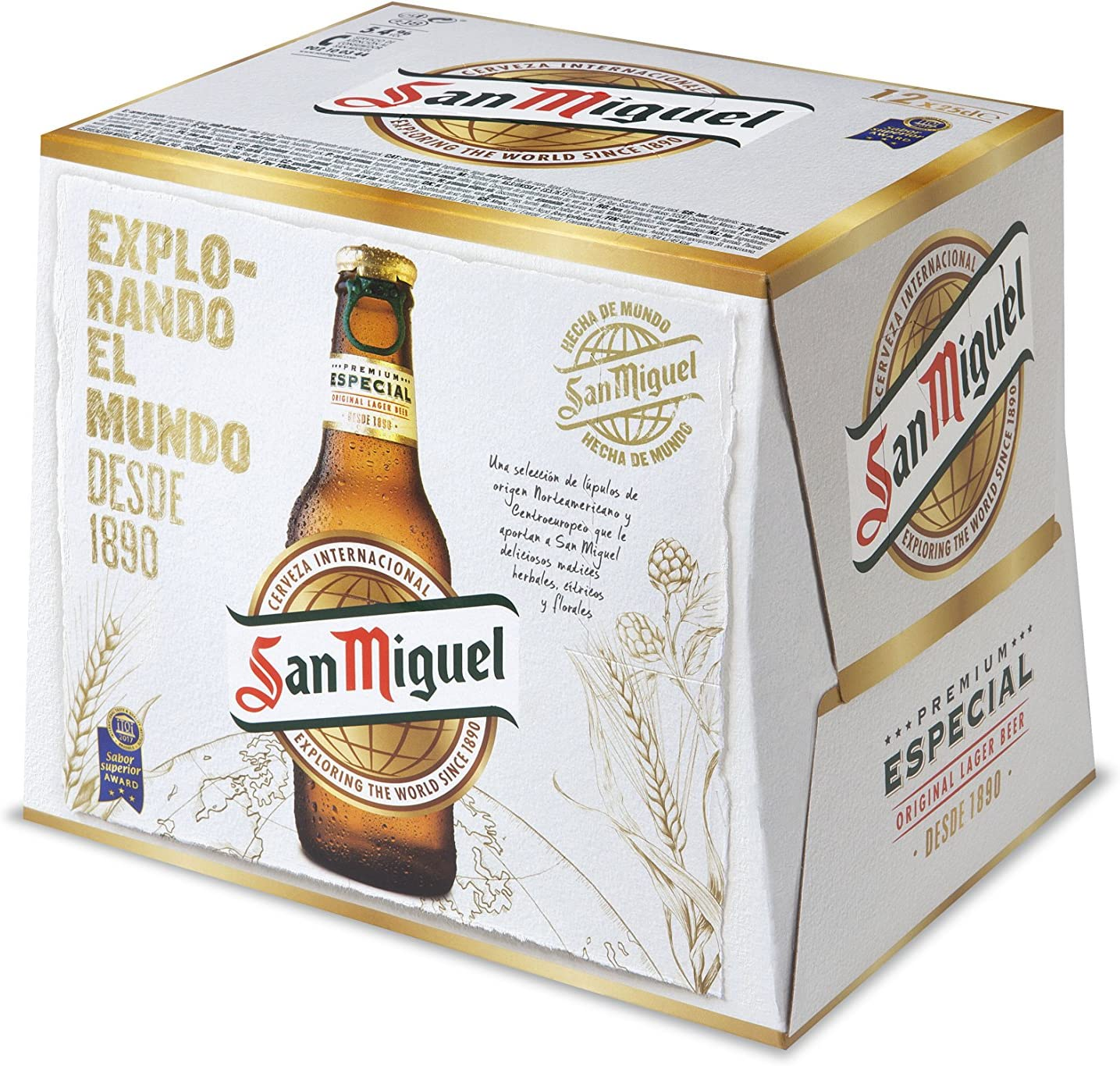 San Miguel Especial Cerveza Dorada Lager, 5.4% Volumen de Alcohol ...