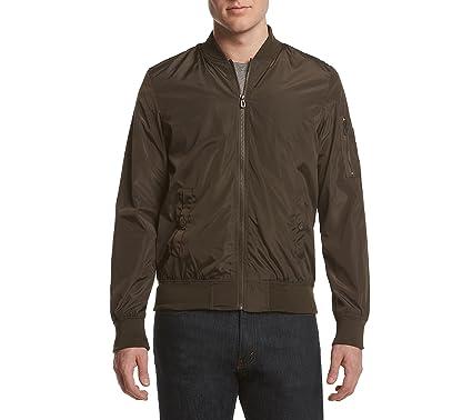 6a408081e692 Distortion Men s Nylon Bomber Jacket Olive X-Large at Amazon Men s Clothing  store