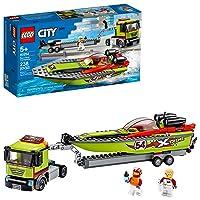LEGO City Race Boat Transporter 60254 Race Boat Toy, Fun Building Set for Kids,...