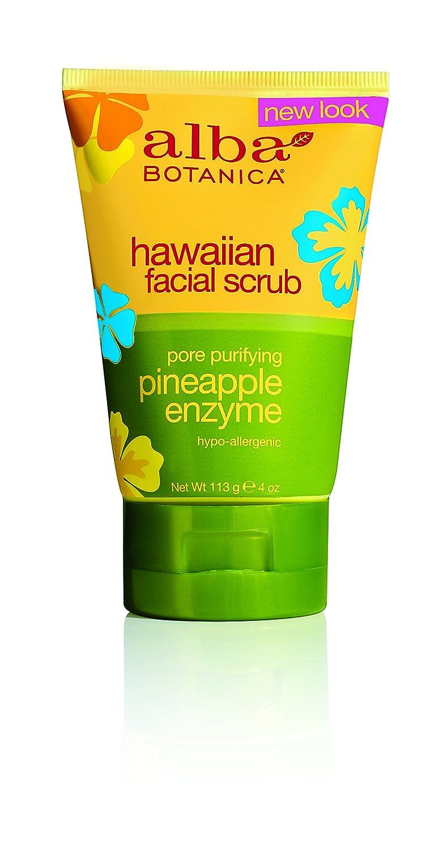 Hawaiian Pineapple Enzyme Facial Scrub by Alba Botanica for Unisex - 4 oz Scrub AL00808