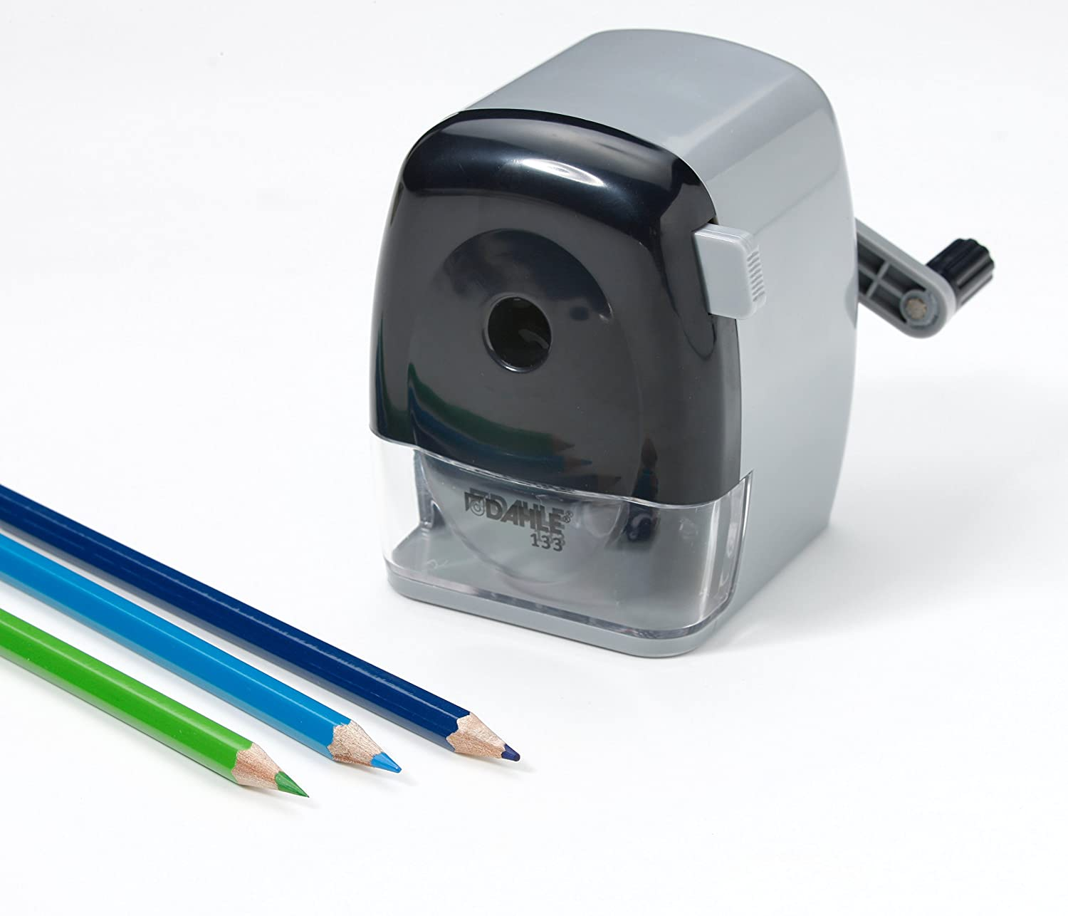 Dahle 133 Pencil Sharpener with Automatic Cutting System Accepts Standard Graphite or Oversized Artist Pencils Adjustable Point