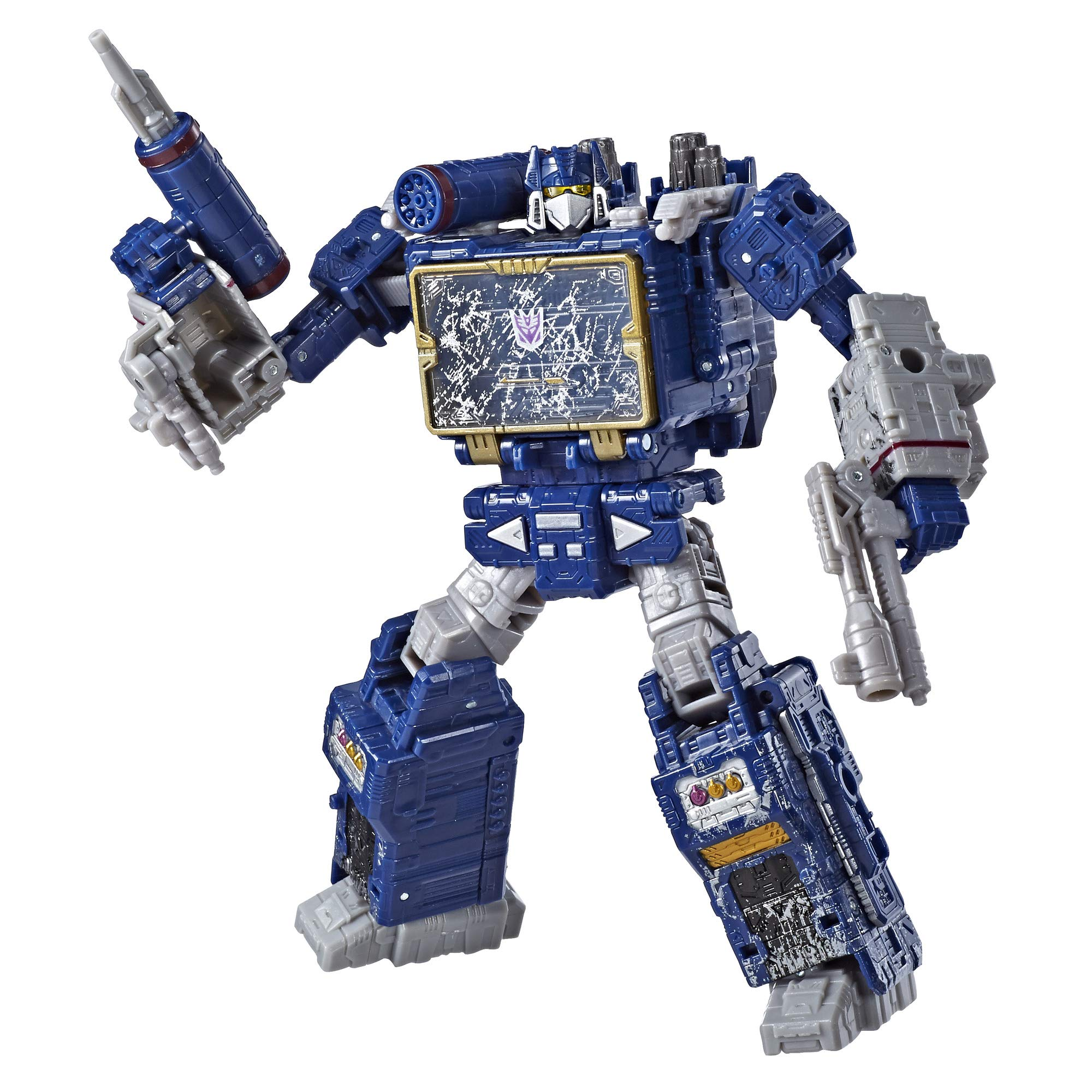 Transformers Toys Generations War for Cybertron Voyager Wfc-S25 Soundwave Action Figure - Siege Chapter - Adults & Kids Ages 8 & Up, 7''
