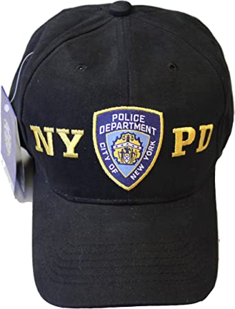 Nypd Gorra De Béisbol New York Police Department Negro Dorado Talla única Clothing