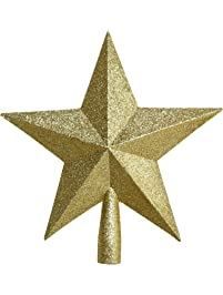 Shop amazon christmas tree topper christmas shop glitter tree top star 98in mozeypictures Choice Image