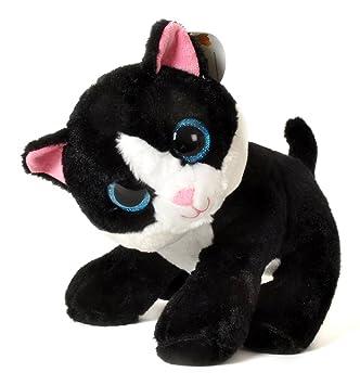 Fieras - Peluche Gato negro y blanco 30cm - Calidad super soft