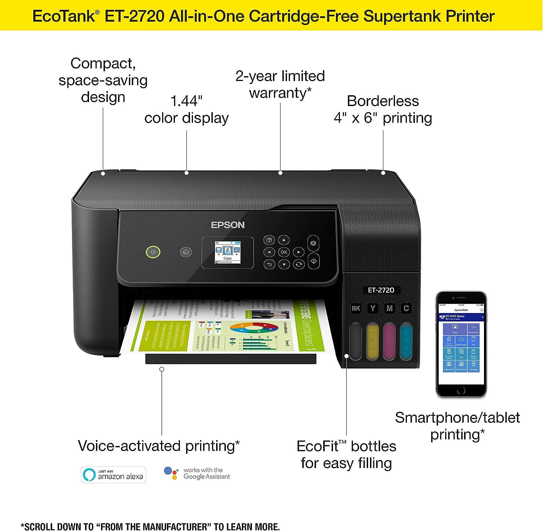 Epson EcoTank ET-2720 Best Inkjet Printers for Heat Transfer Paper