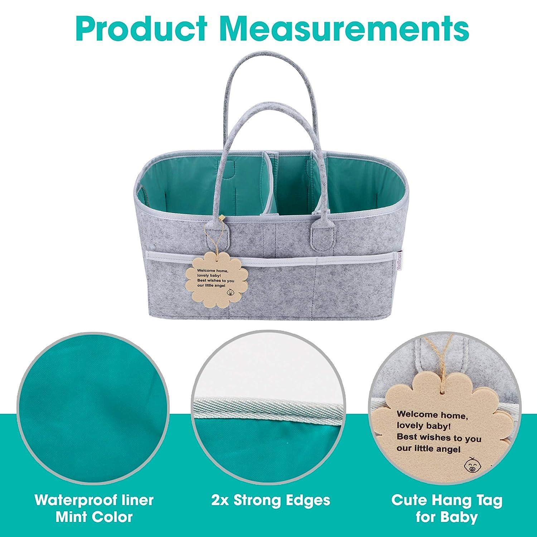 Amazon.com: Organizador de pañales para bebé – cesta de ...
