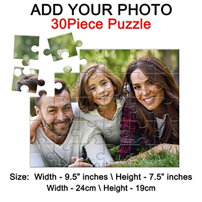 by Cus2mize Personalized Puzzle Custom Puzzle Custom Made Puzzle Puzzle with Photo Logo Art Personalized Gifts: Toys & Games