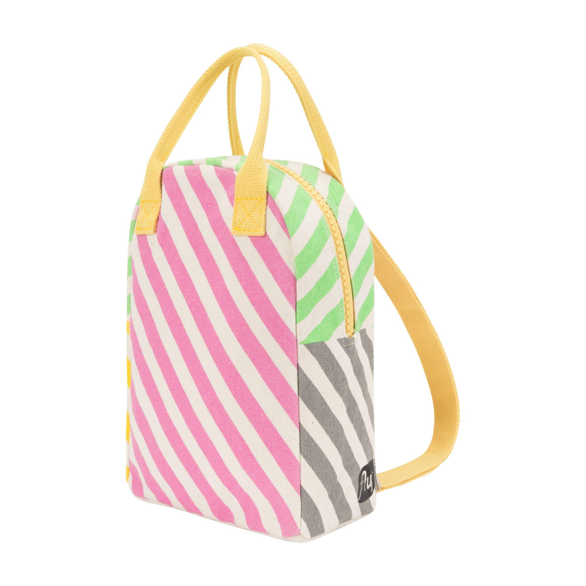 Fluf Lil B Pack, Organic Cotton Mini Backpack, Candy Stripe