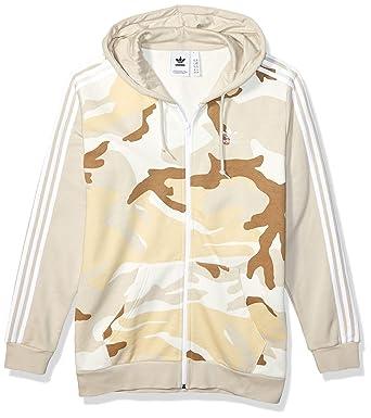 adidas Originals Men's Camo Full Zip Hooded Sweatshirt