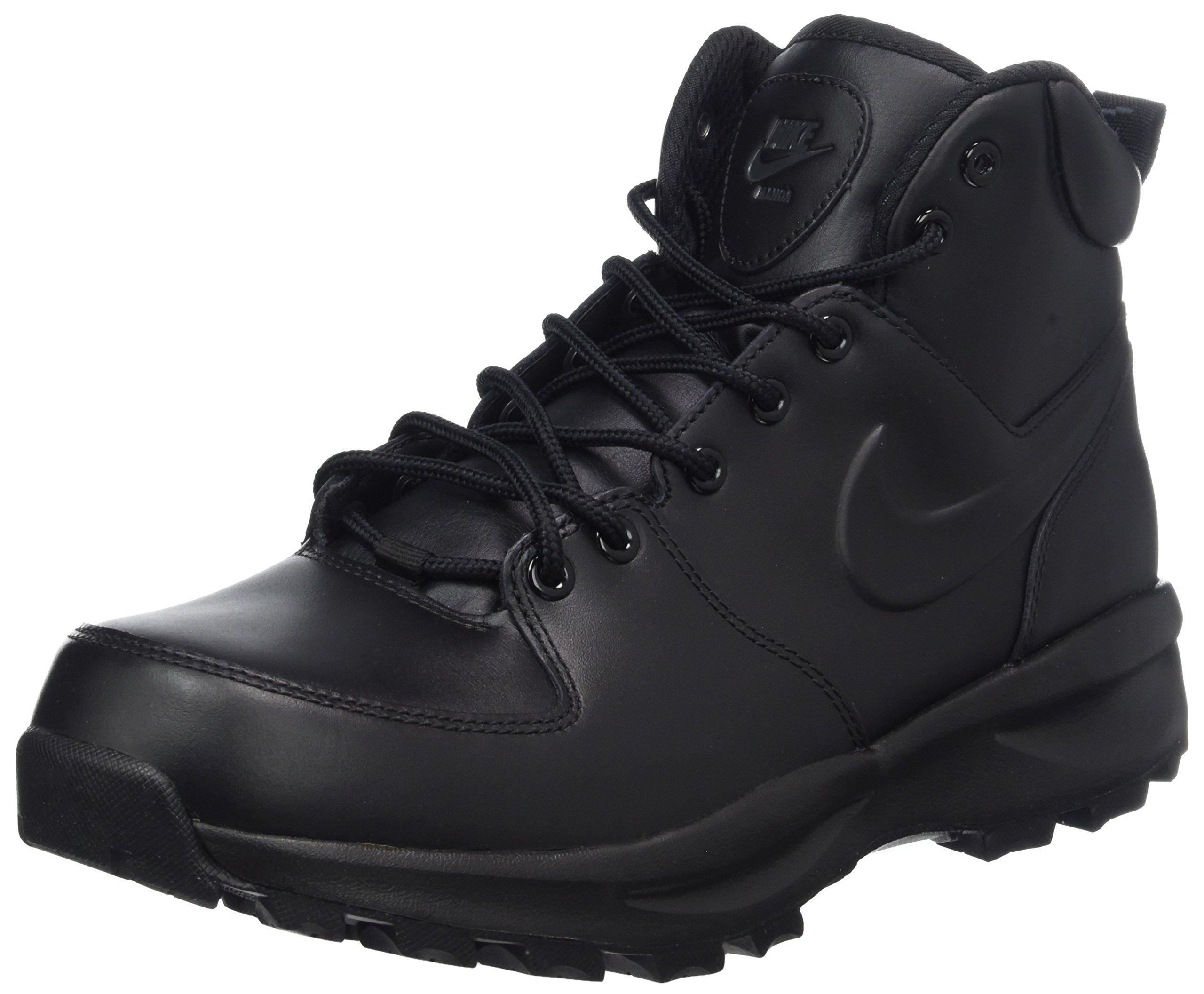 Nike Men's Manoa Leather Black/Black/Black Boot 11 Men US by Nike