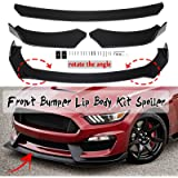 BETTERCLOUD Universal Front Bumper Lip Body Kit Spoiler Wing Fit for Ford Mustang GT 2000-2019