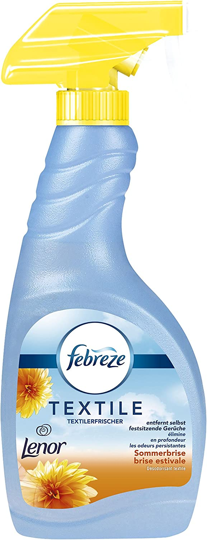 Febreze Lenor Summer Breeze Fabric Refresher Spray Blue Pack Of 4 X 500 Ml Drogerie Körperpflege