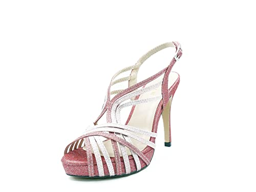 MENBUR Sandalia Fiesta Tejido Glitter Color Rosa 8cad78709a34