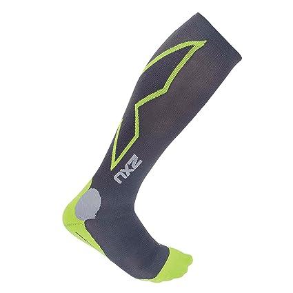 2XU Men s Hyoptik Athletic Reflective Compression Socks (Grey Green 3c4830b15