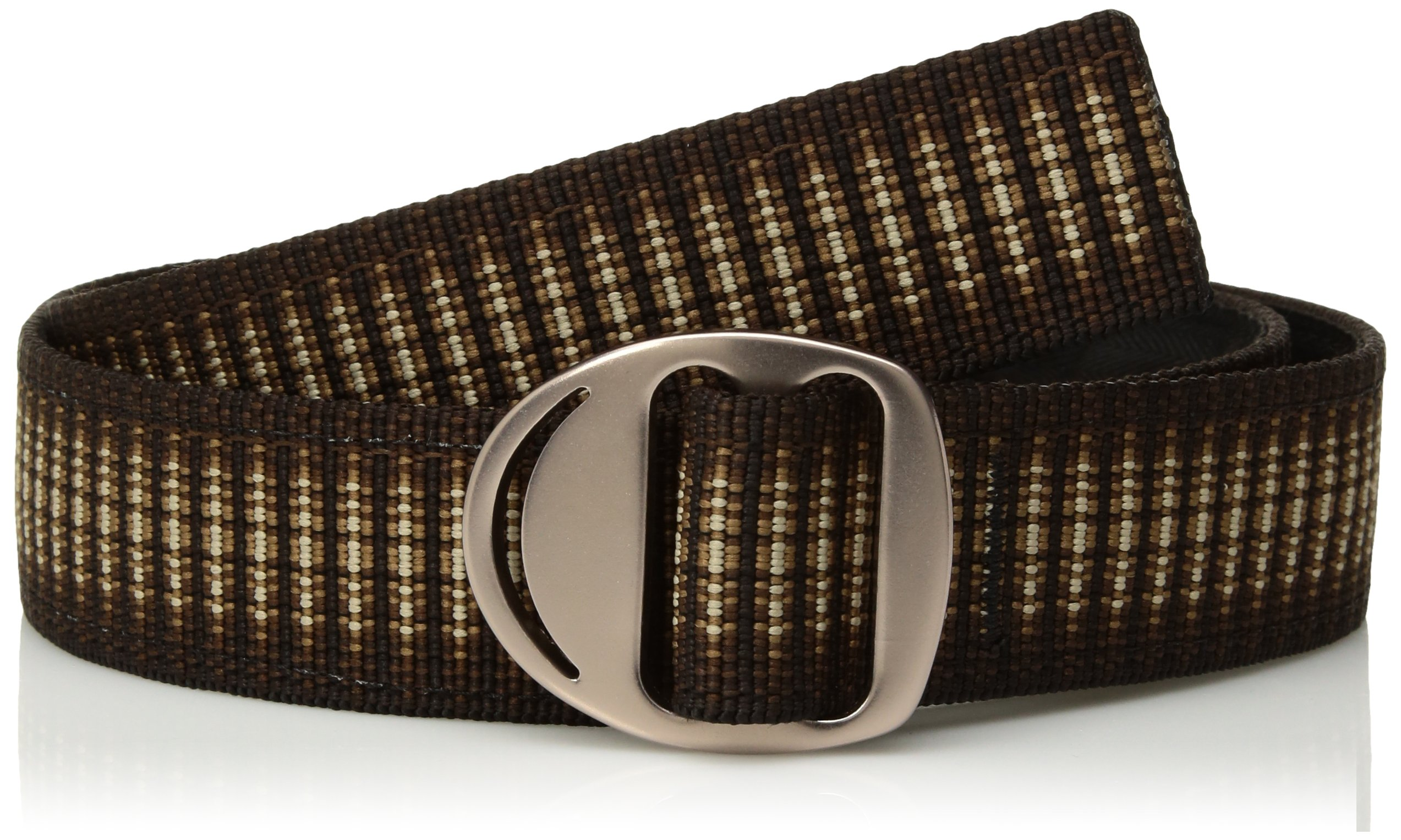 Bison Designs Crescent Money 38mm USA Made Gunmetal Buckle Travel Belt, Cappuccino, Large/42-Inch