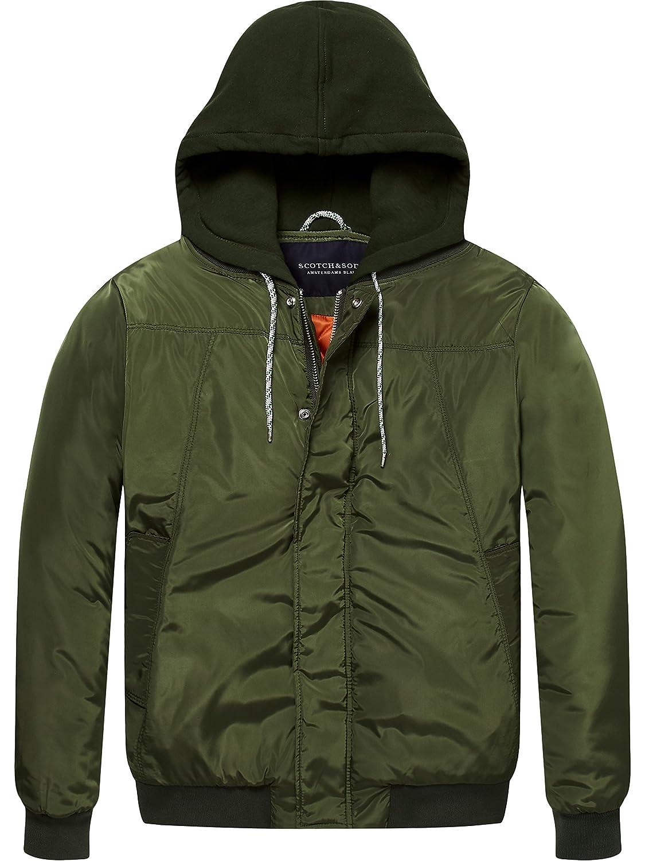 Scotch & Soda Men's AMS Blauw Bomber Jacket, Green