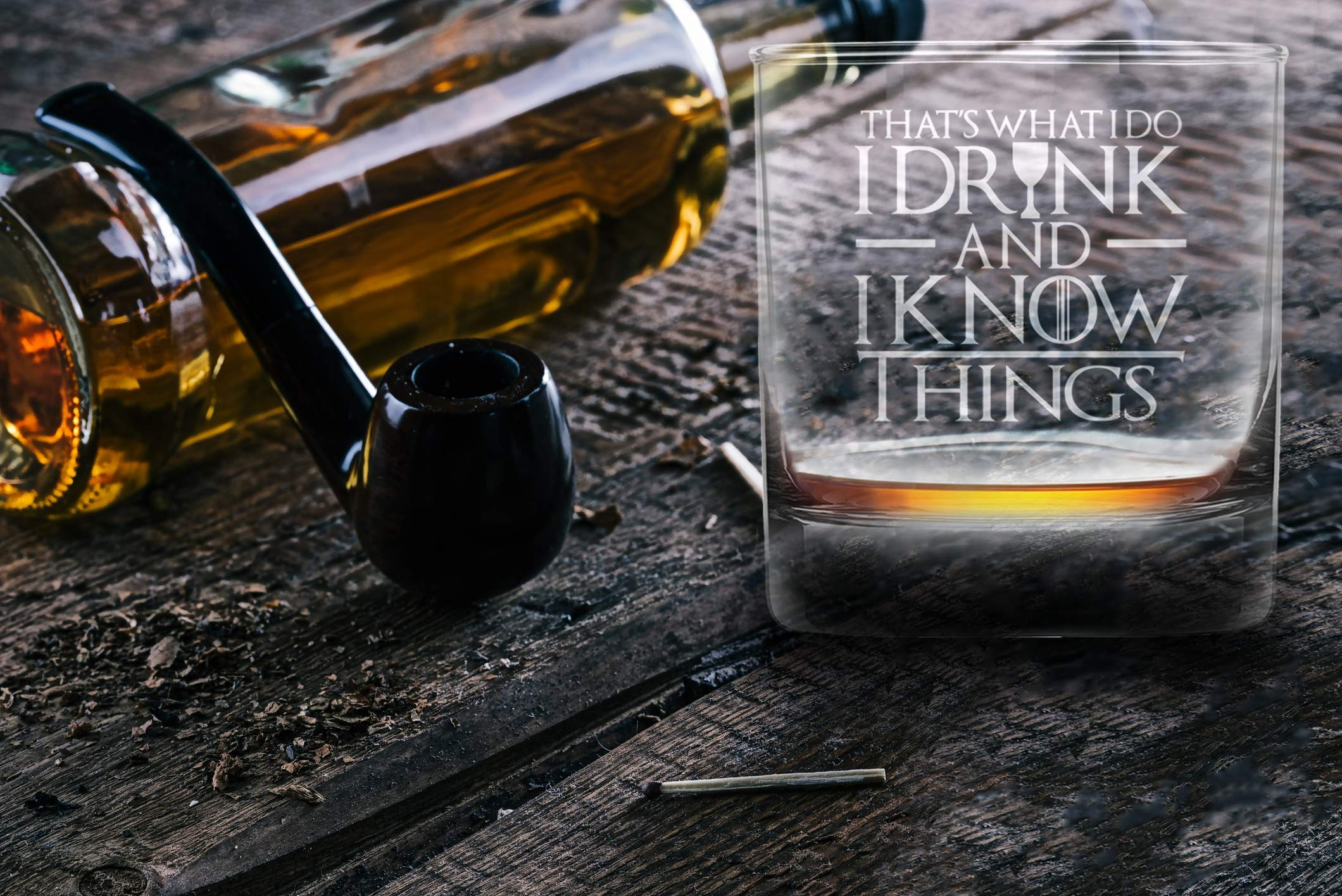 I Drink And I Know Things Highball Whiskey Glasses - Set of 2 - by FOLE (Image #6)