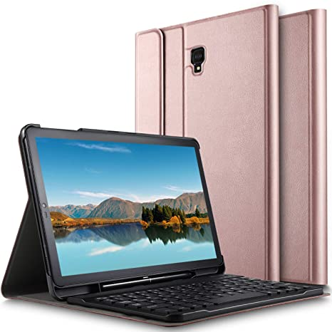 Luibor Samsung Galaxy Tab S4 10.5 Keyboard Case Front Prop Stand Case with Removable Wireless Keyboard and Pencil Slot for Galaxy Tab S4 10.5 SM-T830 ...