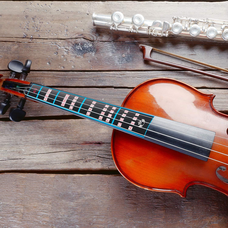 Incluso 2 x Artiglio Stile Silenziatore e 4 x Rotondo Tourte Stile Silenziatore e 1 x Violino Nota Adesivo per 4//4 Violino 7 Pezzi Gomma Violino Pratica Silenziatore Set Nero