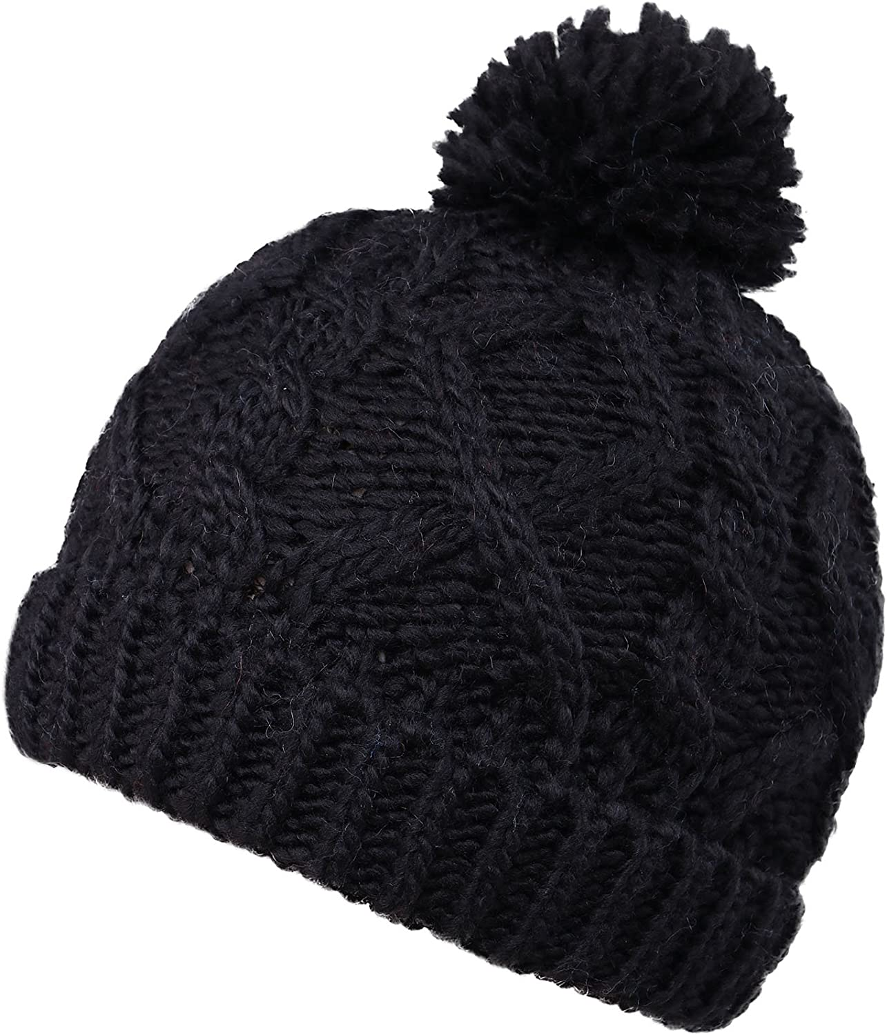 TOPMAN Kid/'s Navy Blue Solid Knitted Winter Pom Pom Cap 56D54C One Size NEW $24
