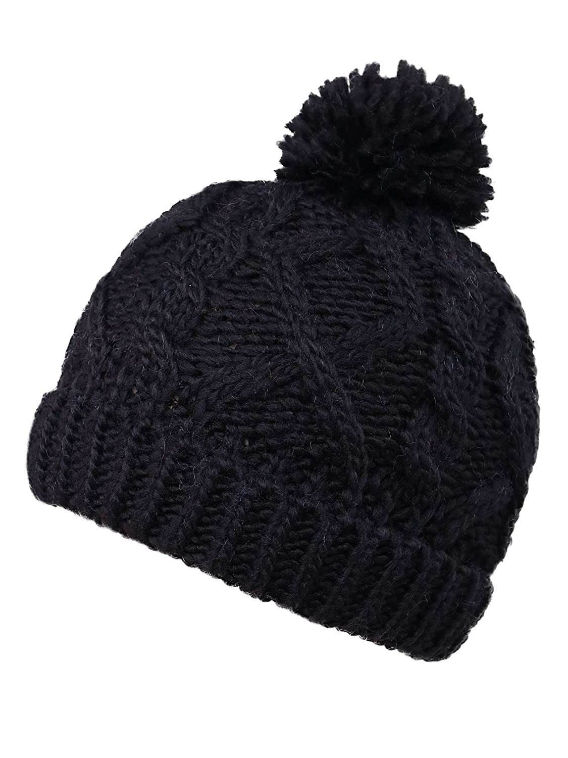 Amazon.com  YoungLove Kids  Winter Cable Knit Pom Pom Beanie Winter Hat Cap  for Boys Girls b792ffc9af9