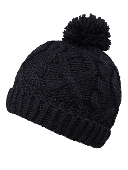 YoungLove Kids  Winter Cable Knit Pom Pom Beanie Winter Hat Cap for Boys  Girls 494a88fc0cd