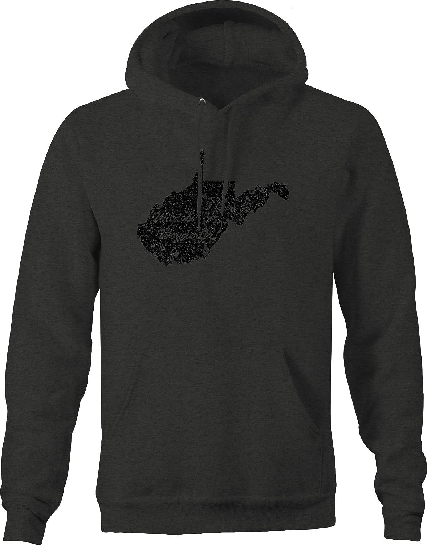 West Virginia Wild /& Wonderful State Edition Sweatshirt OS Gear Distressed