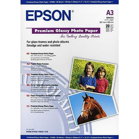 Epson (20) New S041315 - Papel fotográfico DIN A3: Amazon.es ...