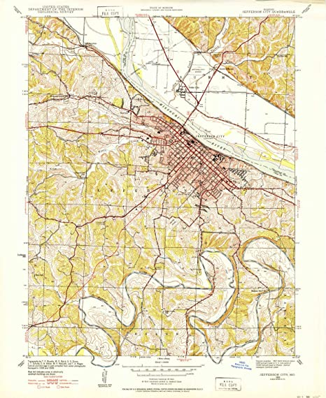 Amazon.com : YellowMaps Jefferson City MO topo map, 1:24000 ...