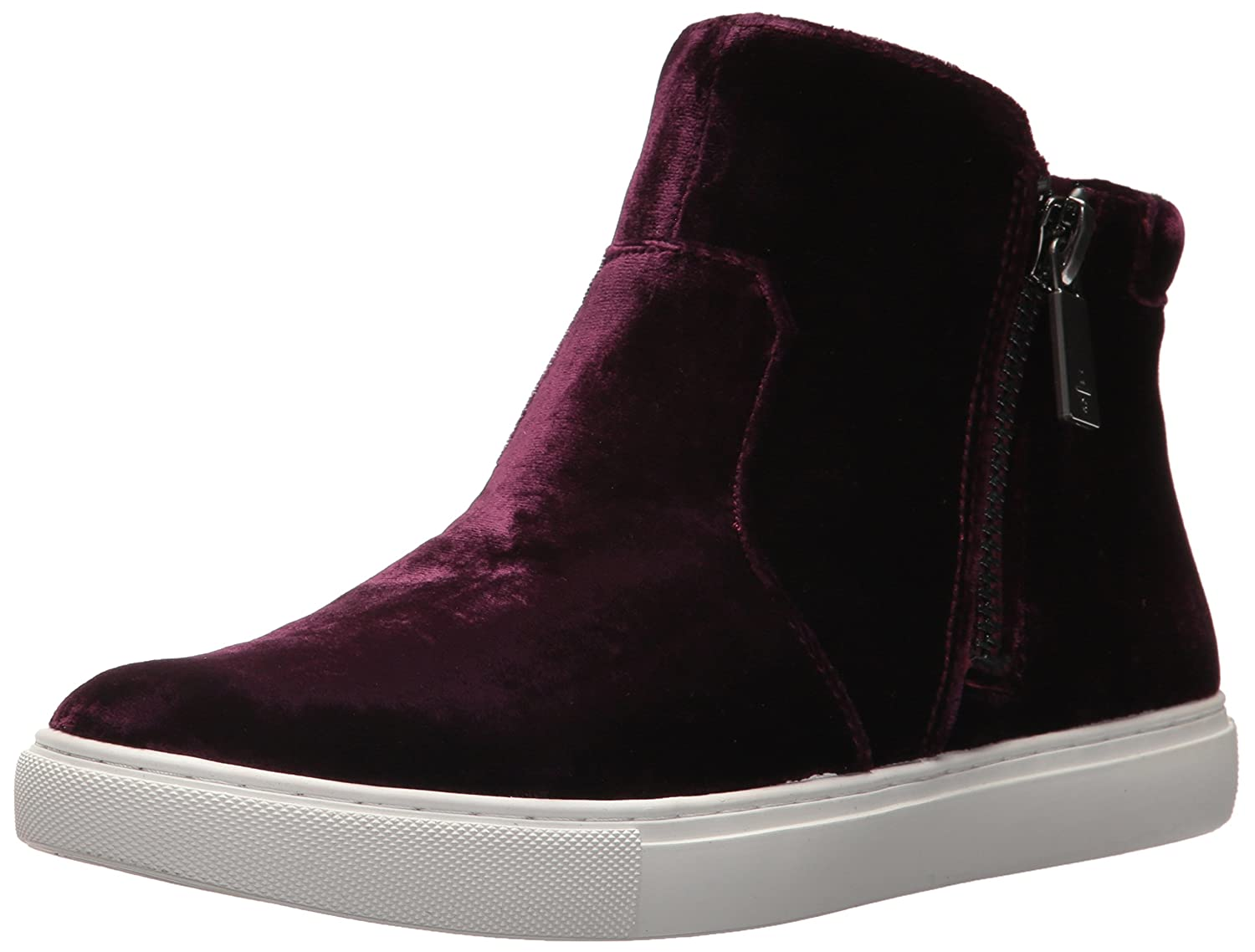 Kenneth Cole New York Women's Kiera Double Zip Mid-Top Velvet Sneaker B073XK99ND 9 B(M) US|Wine