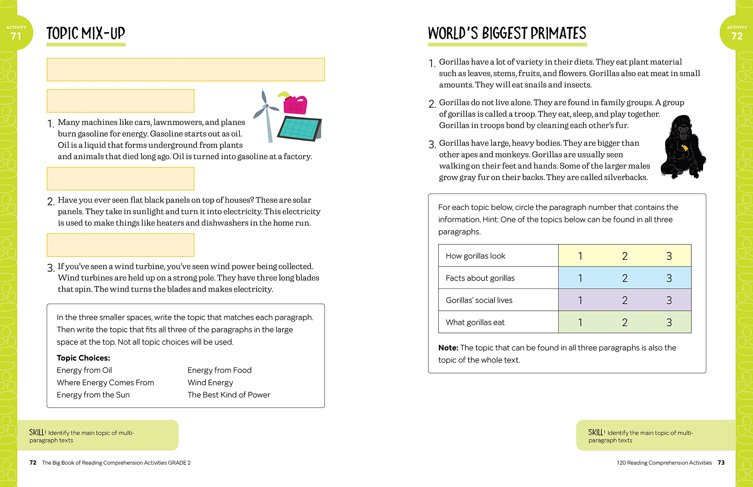 The Big Book of Reading Comprehension Activities, Grade 2: 120 ...