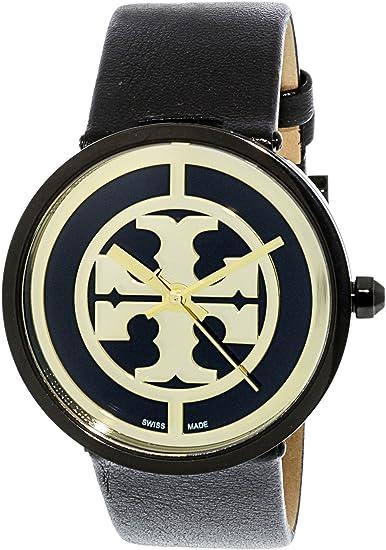 4e6243ae8 Tory Burch Reva Black Dial Leather Strap 36 MM Ladies Watch TB4024: Tory  Burch: Amazon.ca: Watches