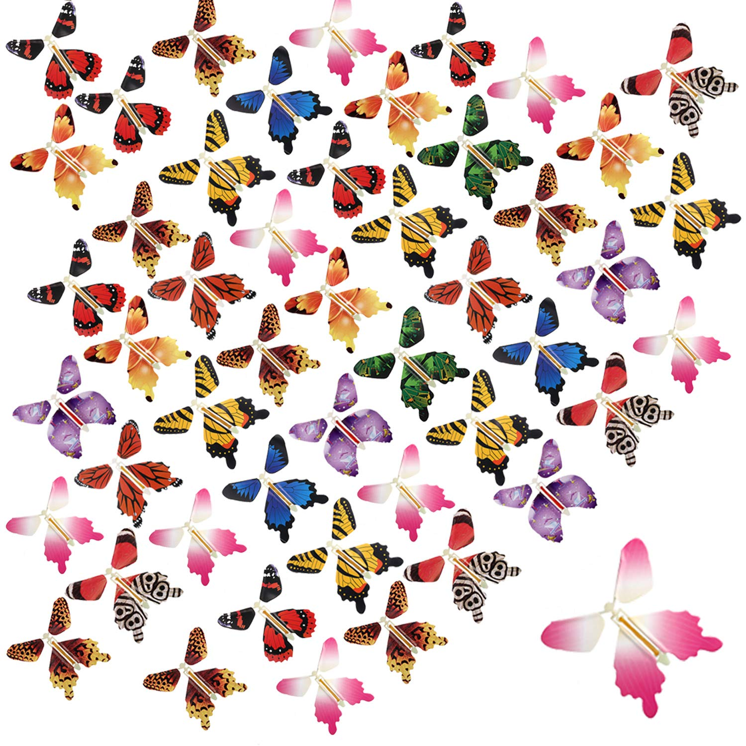 beemean Magic Flying Butterfly Gift Cards - Wind Up Butterfly in The Book Fairy Toy Great Surprise Wedding (50PCS) by beemean (Image #7)