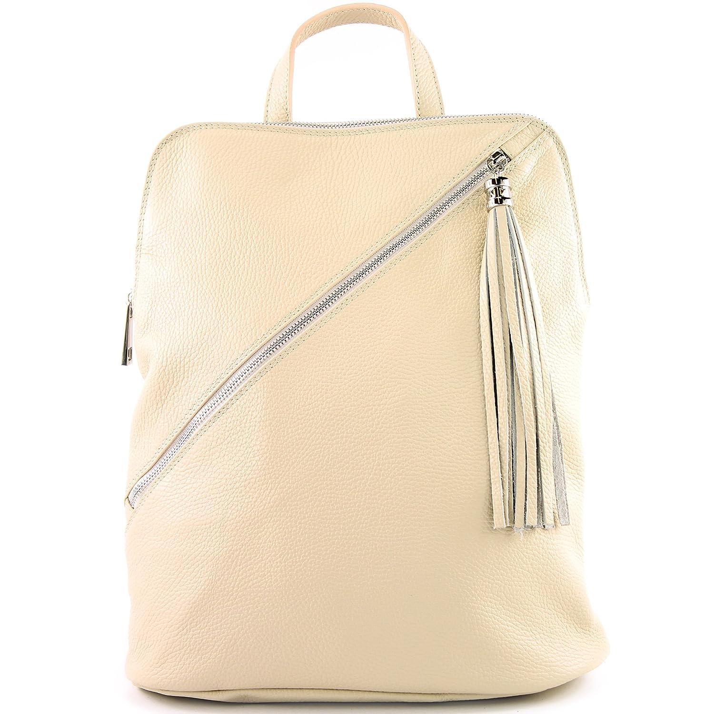 modamoda de – ital. Läderryggsäck ryggsäck 3-i-1 ryggsäck stadspåse T141 T161 kräm