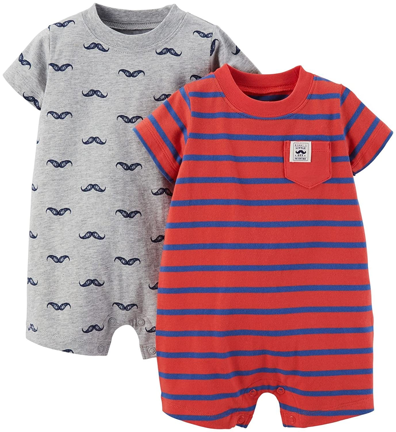16ec9bce3 Amazon.com  Carter s Baby Boys  2 Pack Rompers (Baby)  Clothing