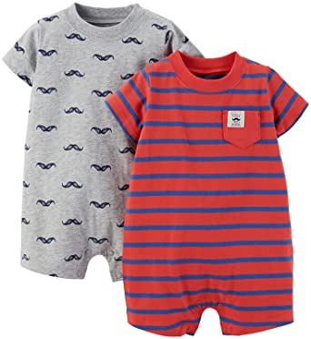 d0fb055dd Amazon.com  Carter s Baby Boys  2 Pack Rompers (Baby)  Clothing