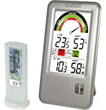 La Crosse Technology WS9070IT - Estación térmica e higrométrica con medidor del nivel de confort, plata