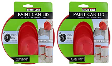Does Paint Go Bad >> Shur Line 1783844 Red Silicone Mess Free Store And Pour Collapsible Gallon Paint Can Lid 2 Pack
