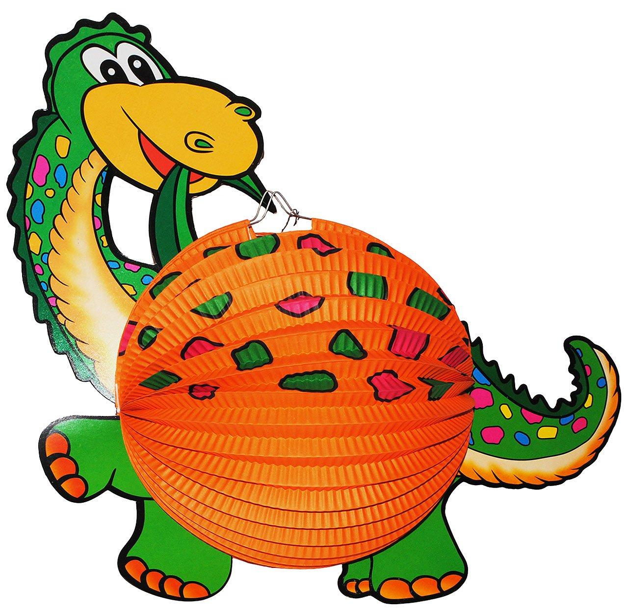 1 Stück: Papier Laterne / Lampion - Dinosaurier Dino - für Kinder Papierlaterne - Laternen Lampions - Bunte Dinos - für Laternenumzug - Mädchen Jungen Kinder-land